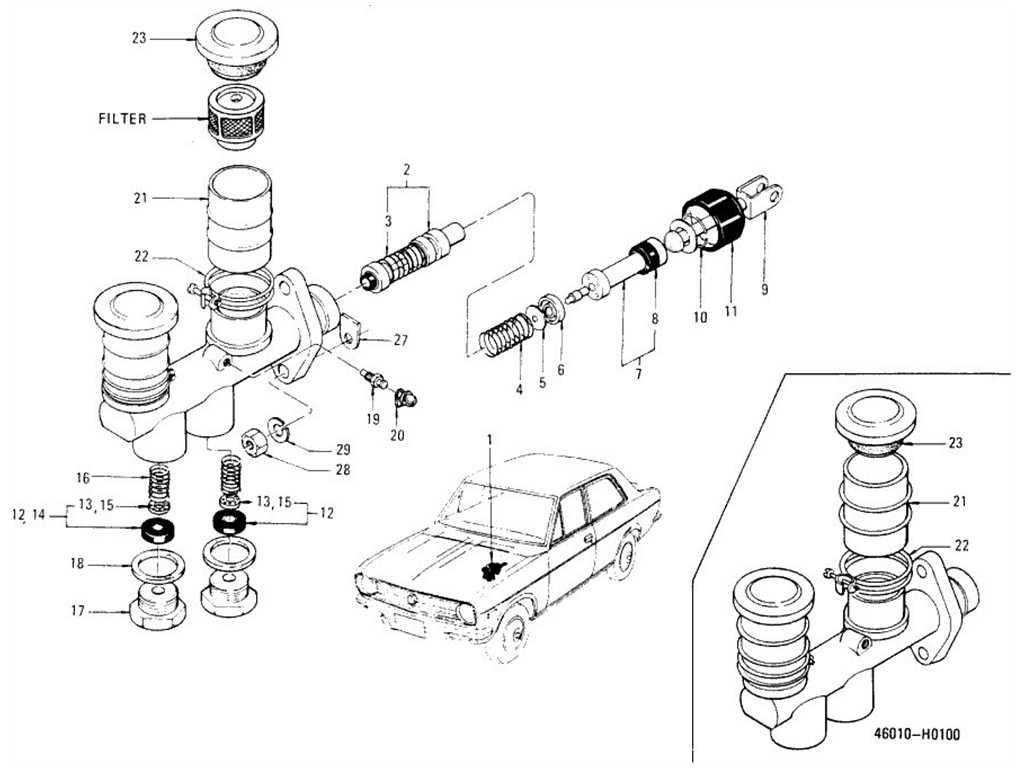 Datsun 1200 (B110) Brake Master Cylinder