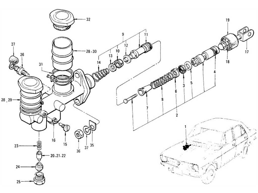 Datsun 1200 (B110) Brake Master Cylinder (Tandem Nabco