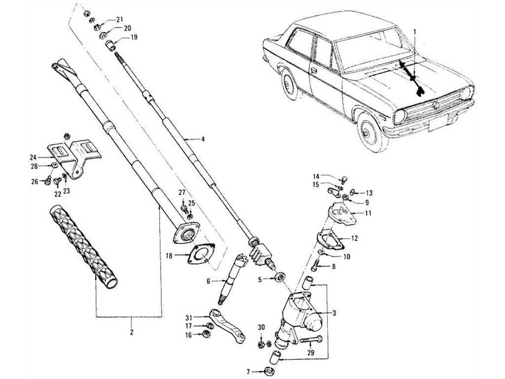 Datsun 1200 (B110) Steering