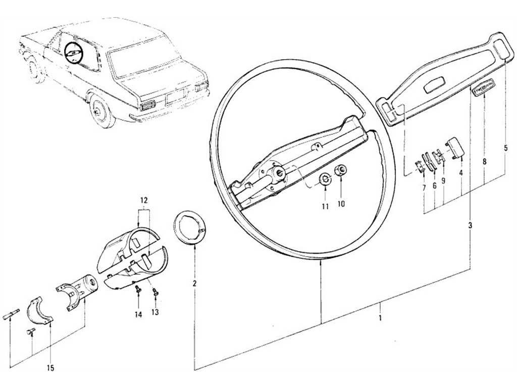 Datsun 1200 (B110) Steering Wheel & Steering Lock