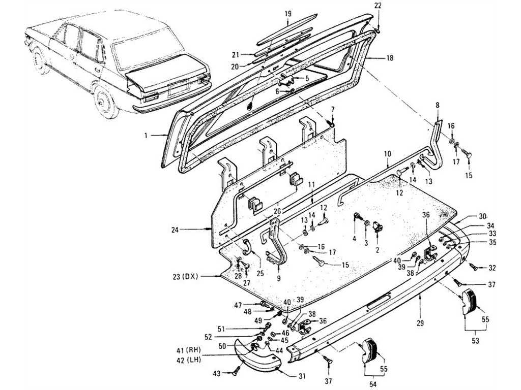 Datsun 1200 (B110) Trunk & Rear Bumper (Sedan)