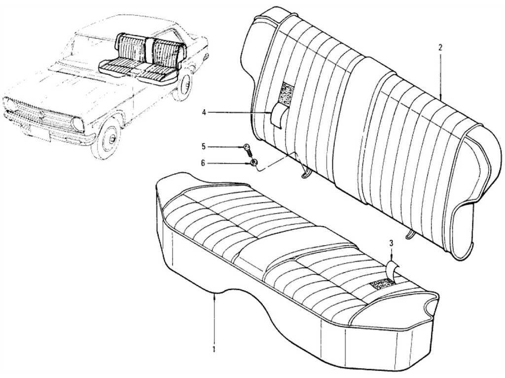 Datsun 1200 (B110) Rear Seat (Sedan)