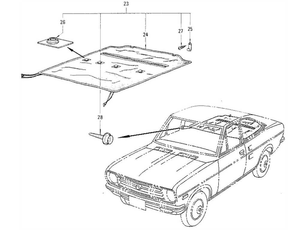 Datsun 1200 (B110) Rear Seat & Tonneau Cover (Coupe)