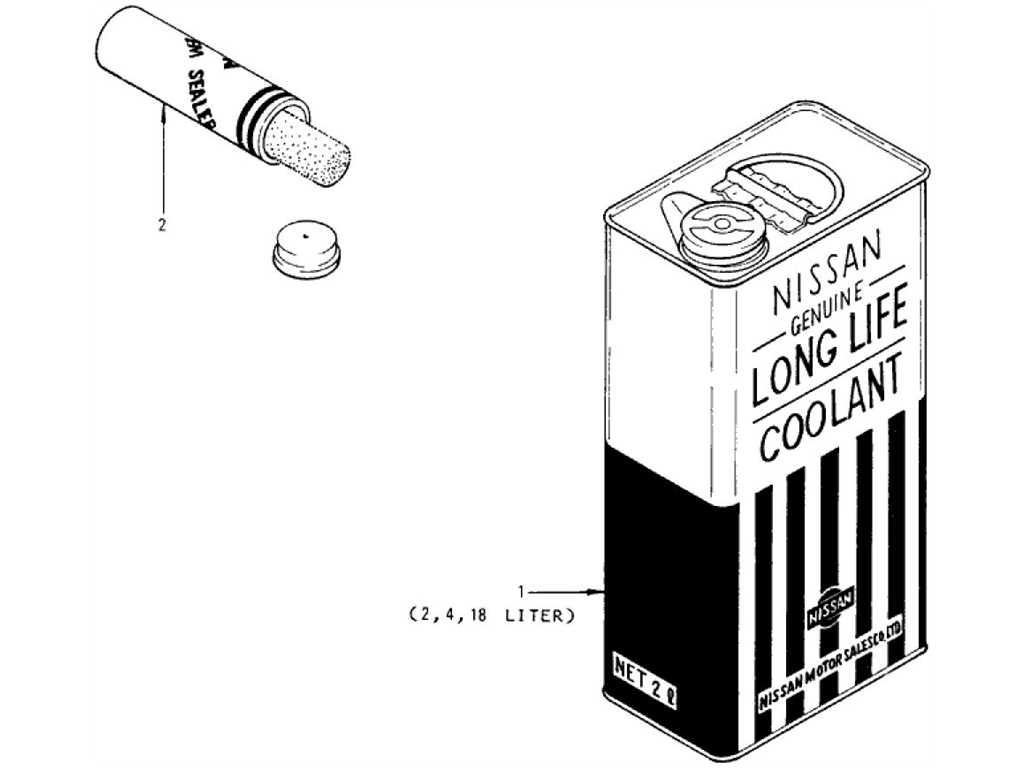 Datsun 1200 (B110) Long Life Coolant & N.C.S. Sealer