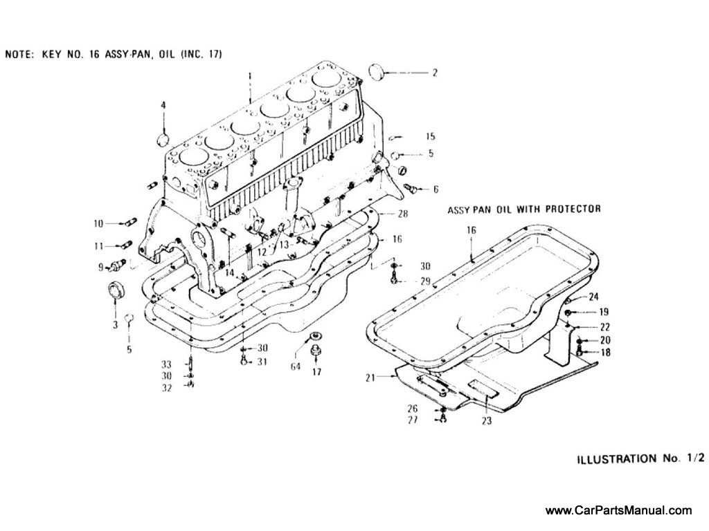 Nissan Patrol (60) Cylinder Block, Oil Pan, Side Cover