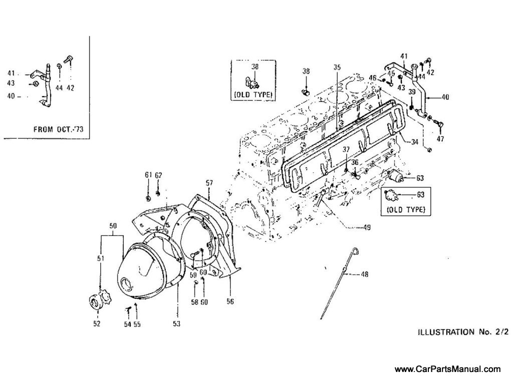 Nissan Patrol (60) Cylinder Block, Oil Pan, Side Cover