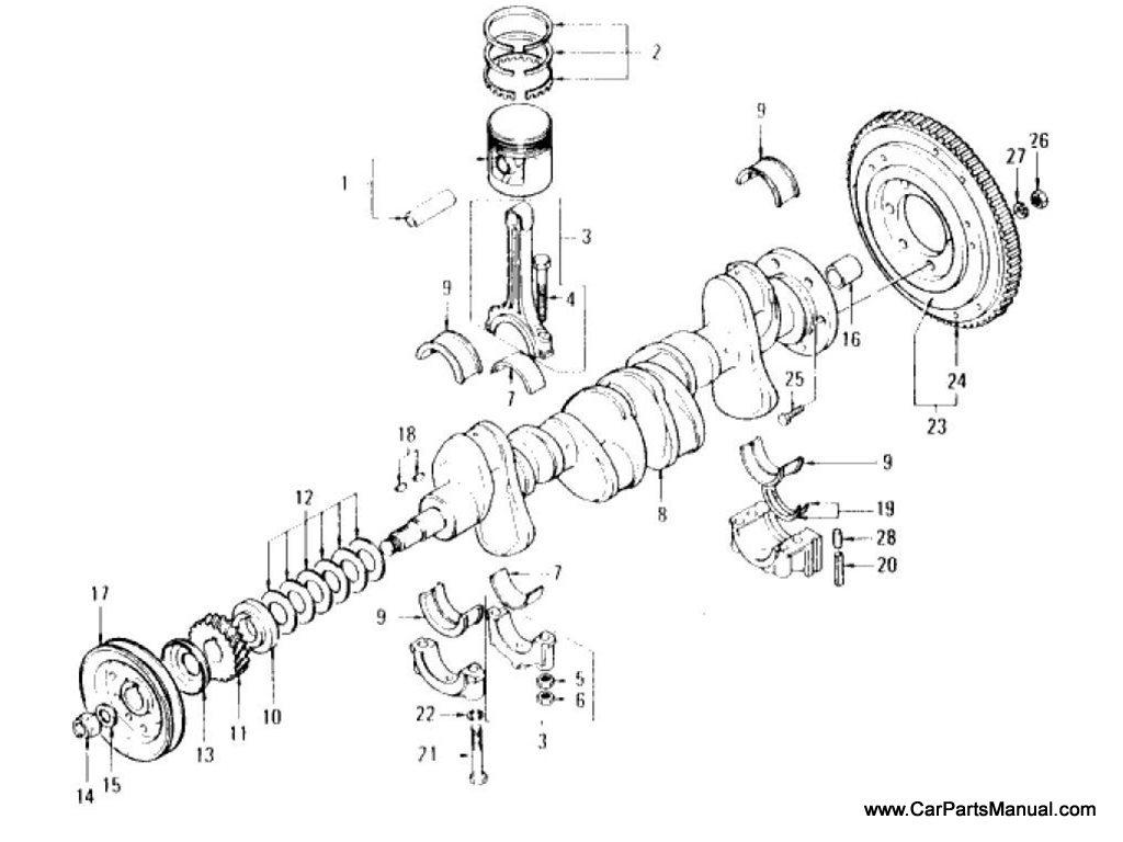 Nissan Patrol (60) Piston, Crankshaft & Flywheel