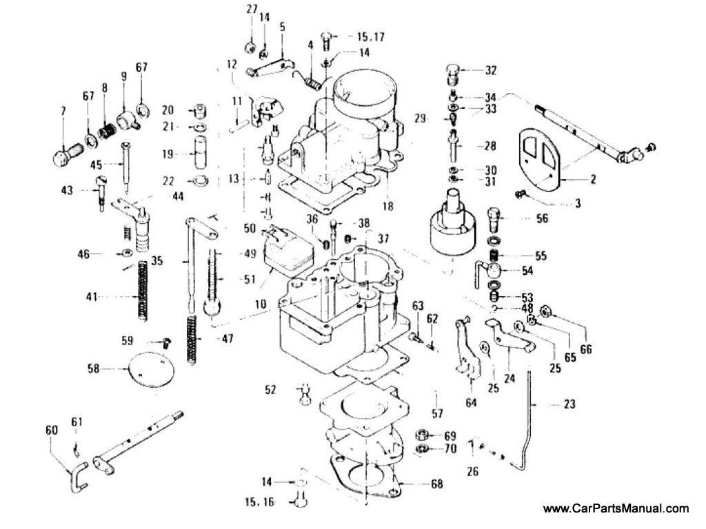 Nissan Patrol (60) Carburetor (VC Type) (To Jan.-'69)
