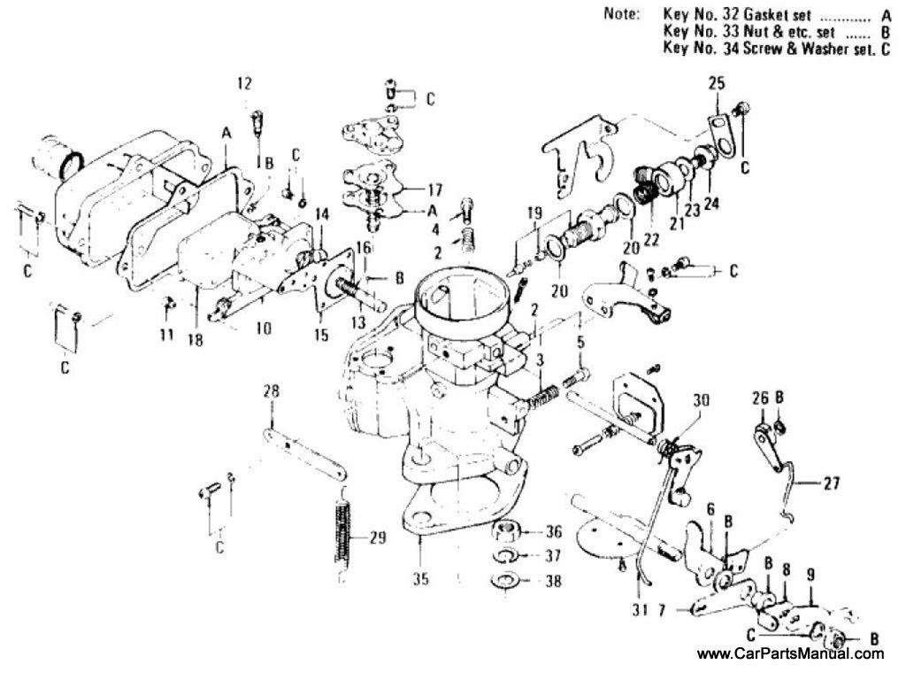 Nissan Patrol (60) Carburetor (VHA Type) (From Feb.-'69)