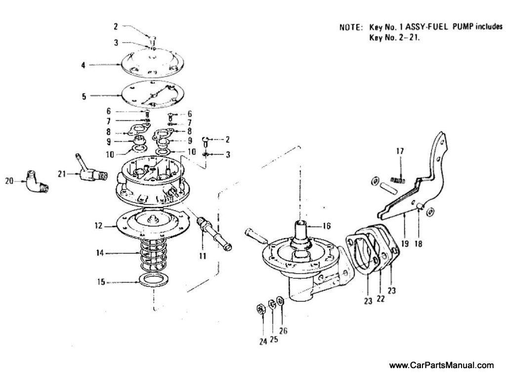 Nissan Patrol (60) Fuel Pump Index