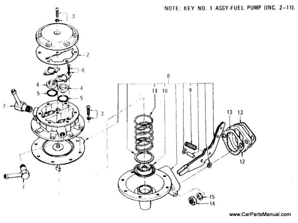 Nissan Patrol 60 Fuel Pump 69 Year Model
