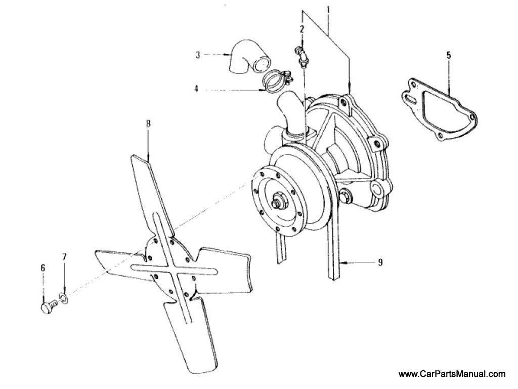 Nissan Patrol (60) Water Pump & Fan (To Jun.-'73)