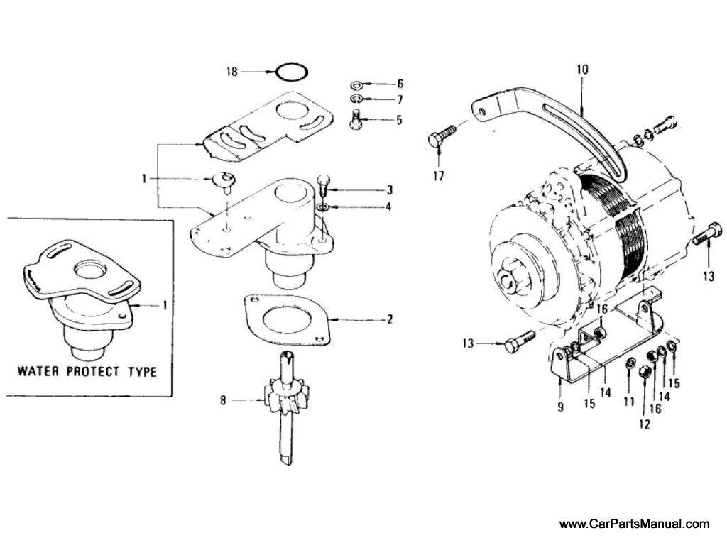 Nissan Patrol (60) Distributor Support & Generator Mounting