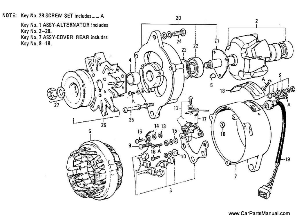 Nissan Patrol 60 Alternator To Jun 68
