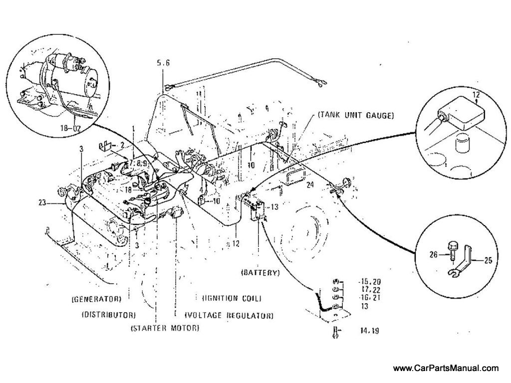 Nissan Patrol (60) Wiring (To May.-'77)