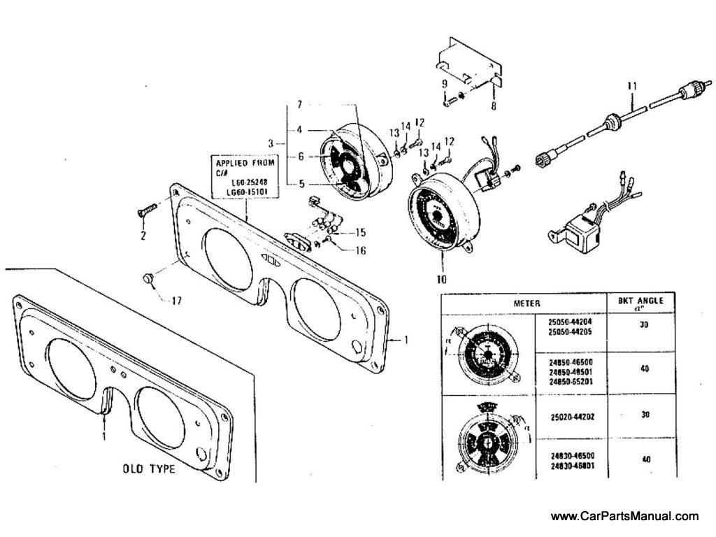 Nissan Patrol (60) Combined Meter & Speedometer