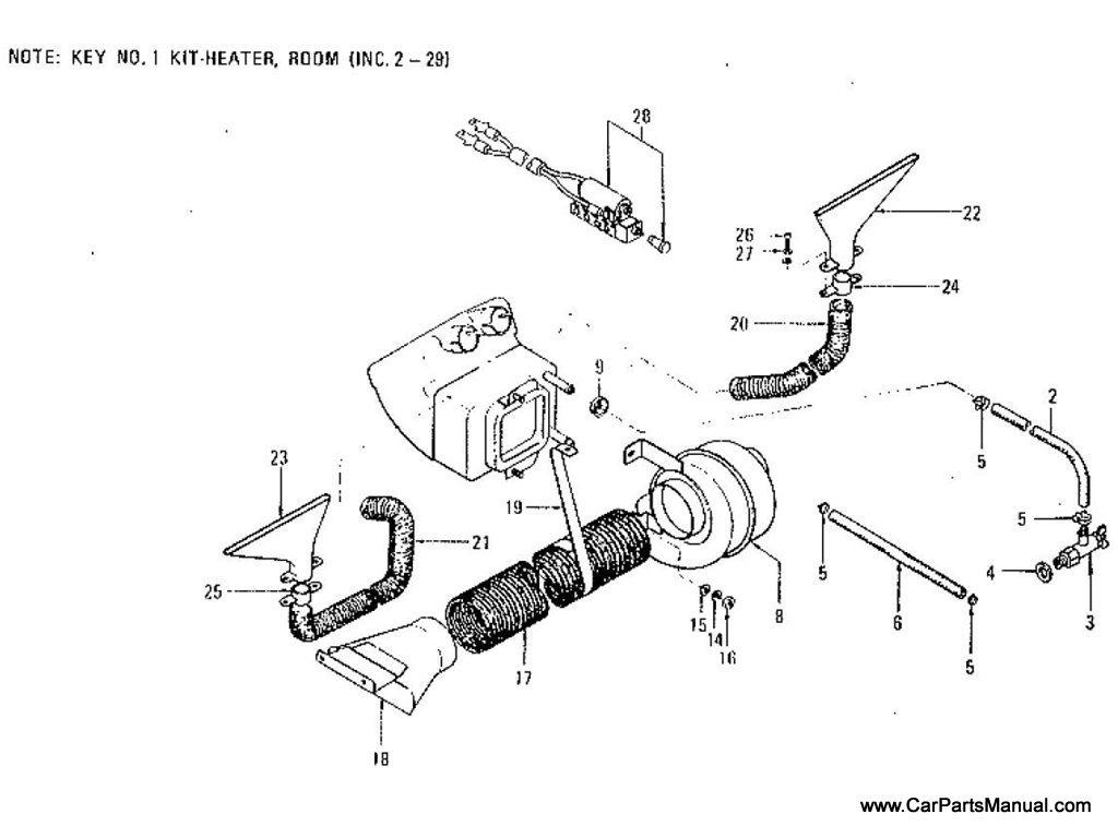 Nissan Patrol (60) Room Heater (Option) (To Mar.-'76)