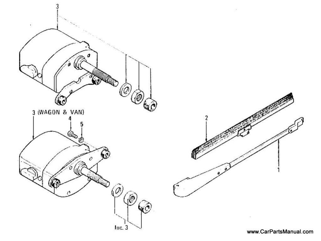 Nissan Patrol (60) Windshield Wiper (To Nov.-'68)