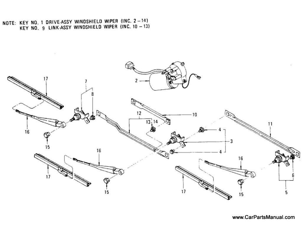 Nissan Patrol (60) Windshield Wiper (3-Blades System)