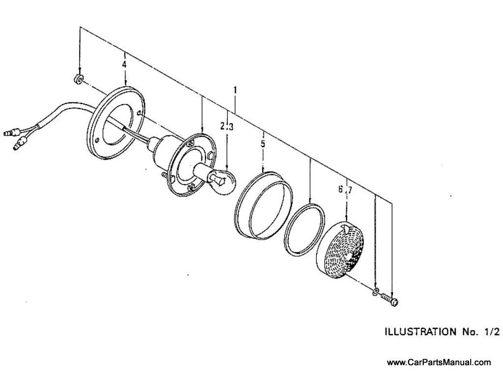 Nissan Patrol (60) Stop, Tail & Turn Signal Lamp (To Jul.-'78)