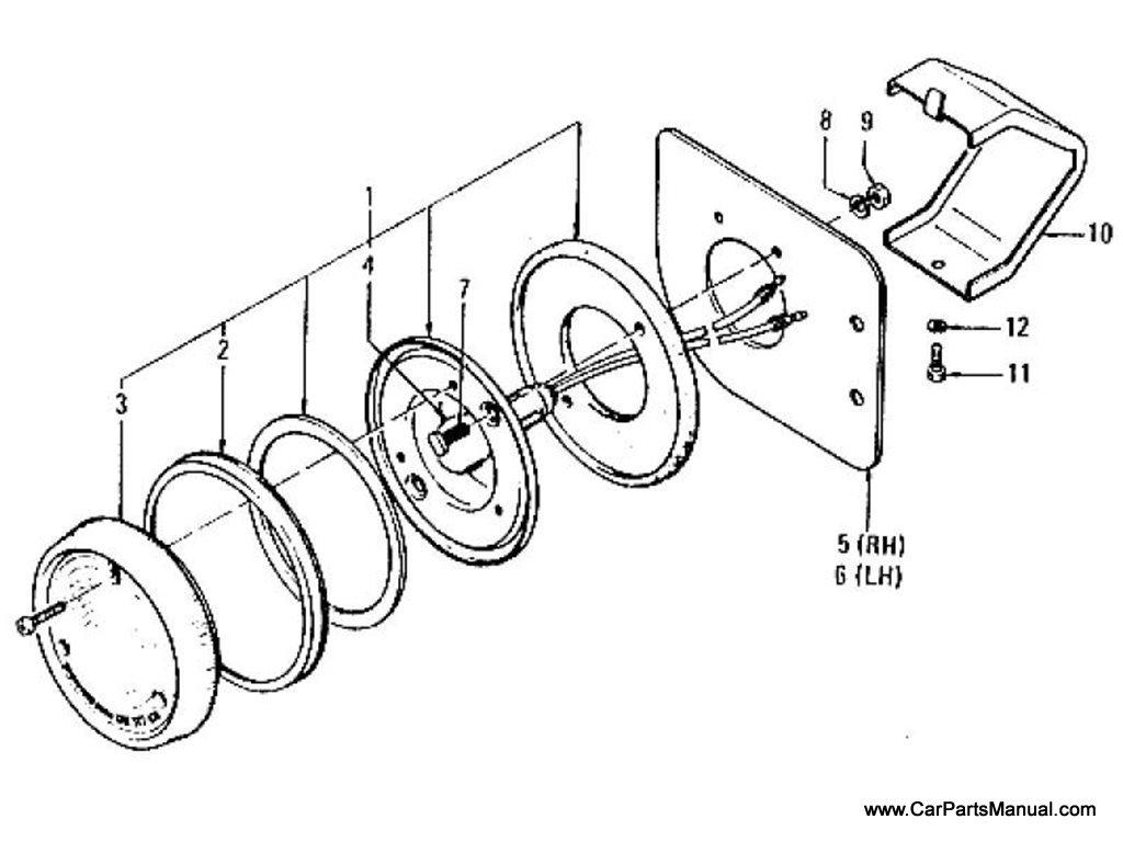 Nissan Patrol (60) Rear Lamp & Bracket (Option)