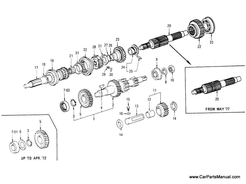 Nissan Patrol (60) Transmission Gear