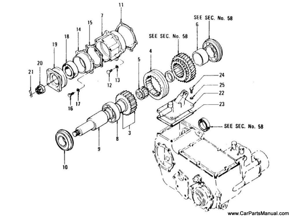 Nissan Patrol (60) Rear P.T.O. Gear & Cover (Option)
