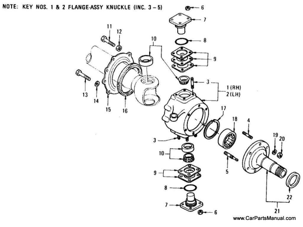 Nissan Patrol (60) Knuckle Flange & Spindle