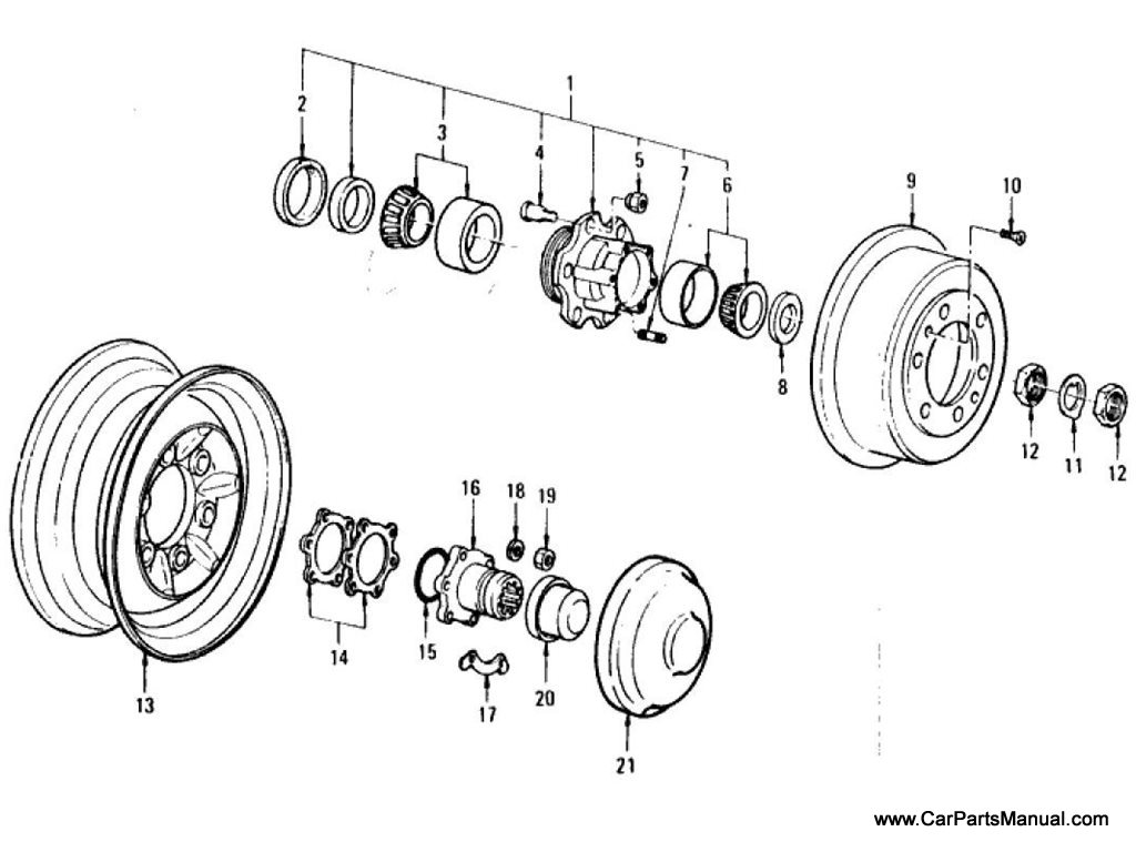 Nissan Patrol (60) Hub & Wheel