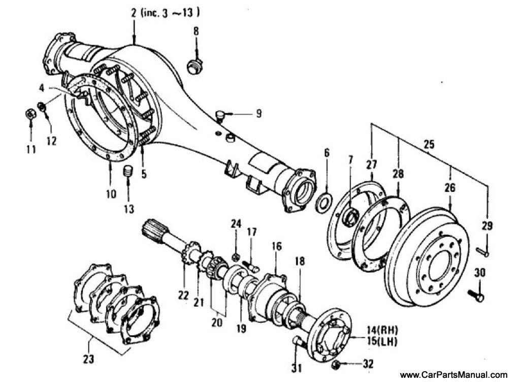 Nissan Patrol (60) Rear Axle (Housing & Axle Shaft Heavy