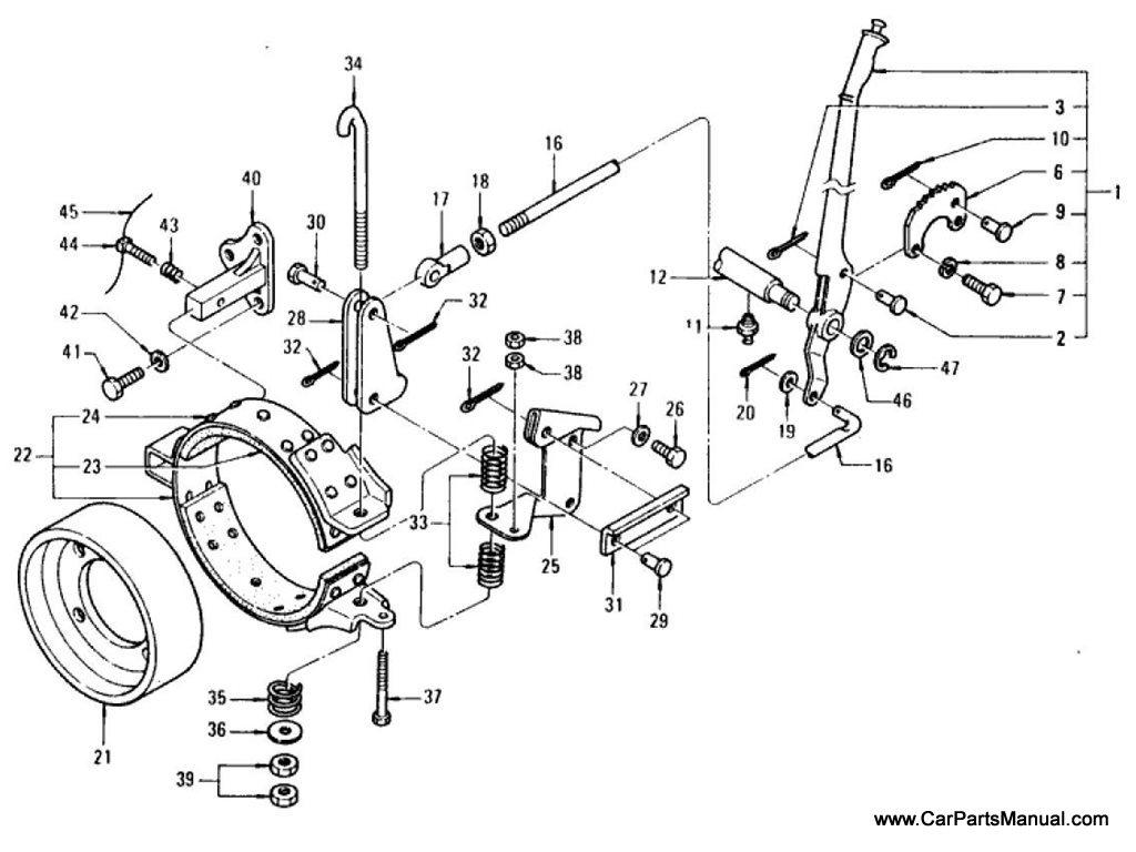 Nissan Patrol (60) Hand Brake Lever & Linkage
