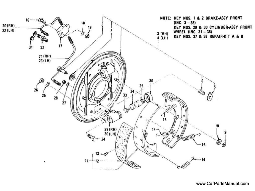 Nissan Patrol (60) Front Brake