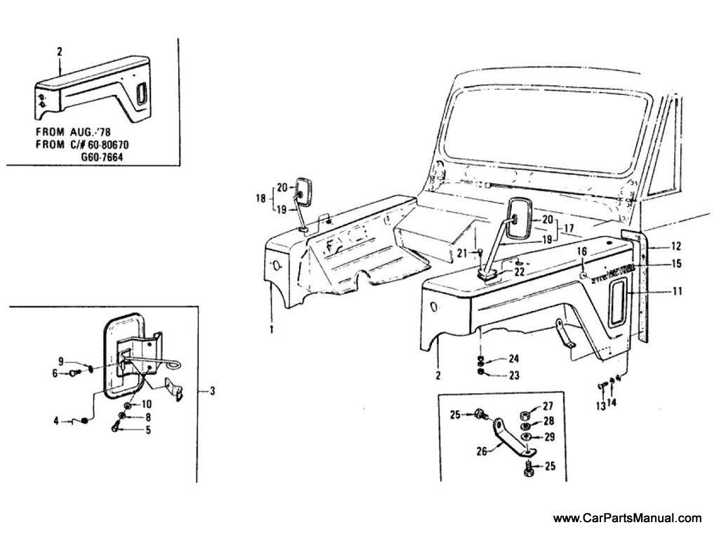 Nissan Patrol (60) Fender & Fitting