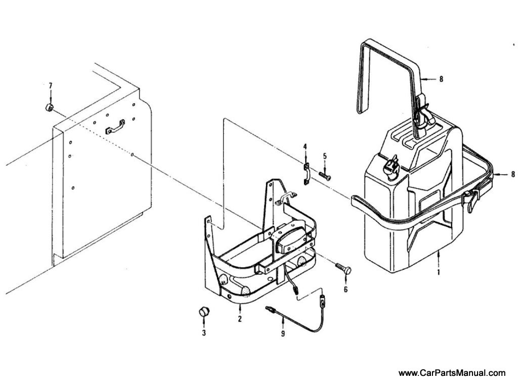 Nissan Patrol (60) Auxiliary Gas-Tank & Fitting Parts