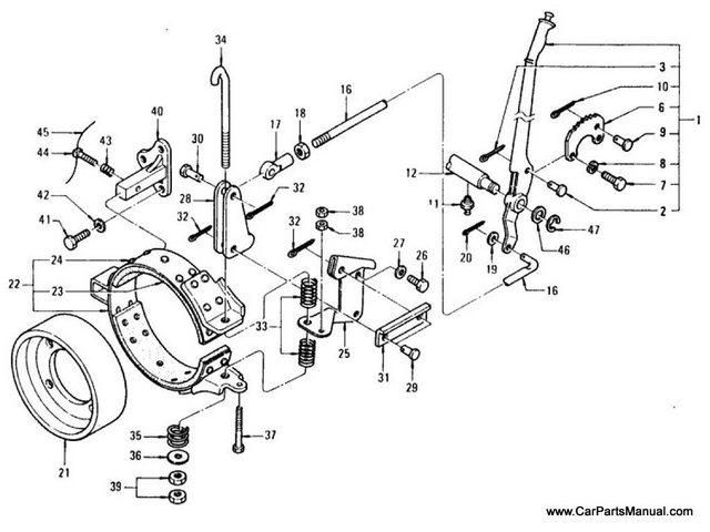 Nissan Patrol 60 Hand Brake Lever & Linkage