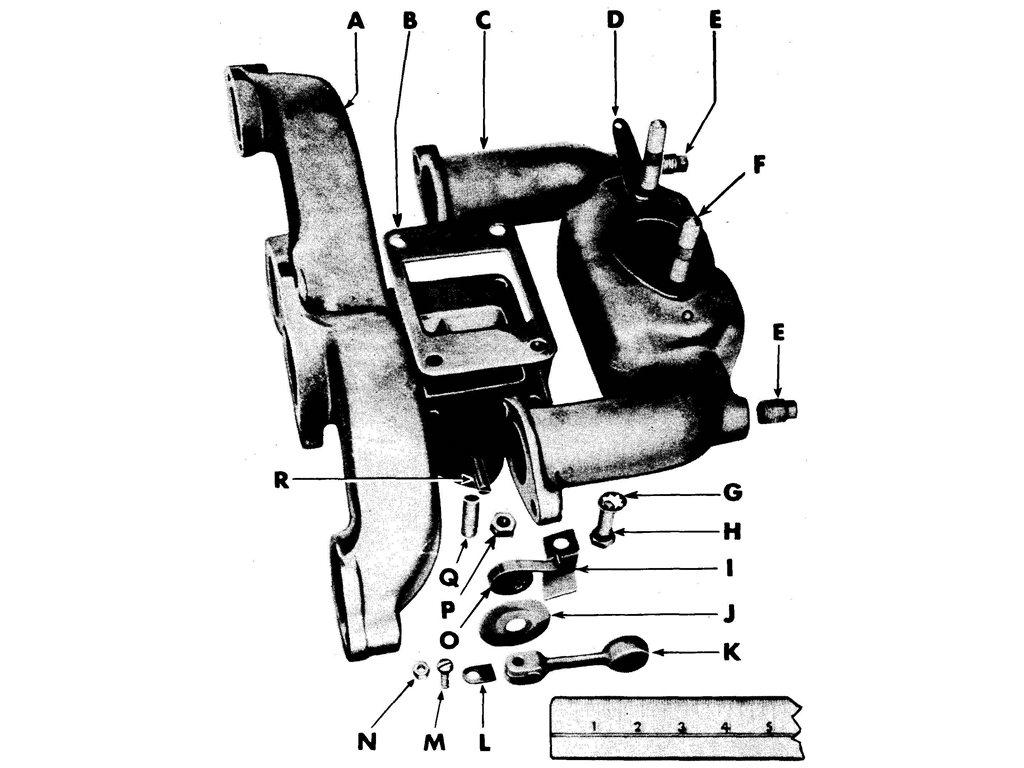 Willys Jeep (MB) Manifold