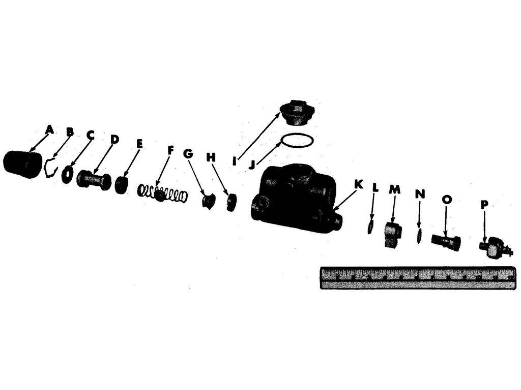 Willys Jeep (MB) Brake Master Cylinder