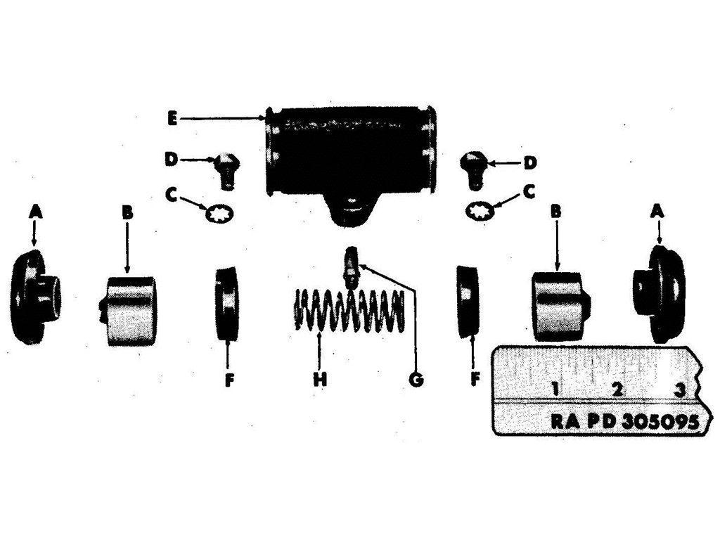 Willys Jeep (MB) Brake Slave Cylinder