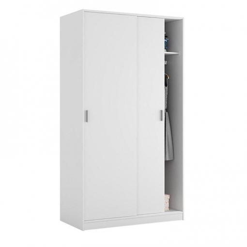 Armario Dos Puertas Correderas Max019o  Color Blanco Mate Medidas 100x200x50 Cm De Fondo  Las mejores ofertas de Carrefour