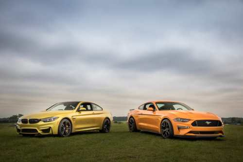small resolution of 01 bmw m4 2018 vs ford mustang gt