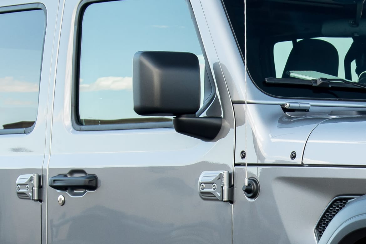 hight resolution of 10 jeep wrangler 2018 exterior side view mirror silver