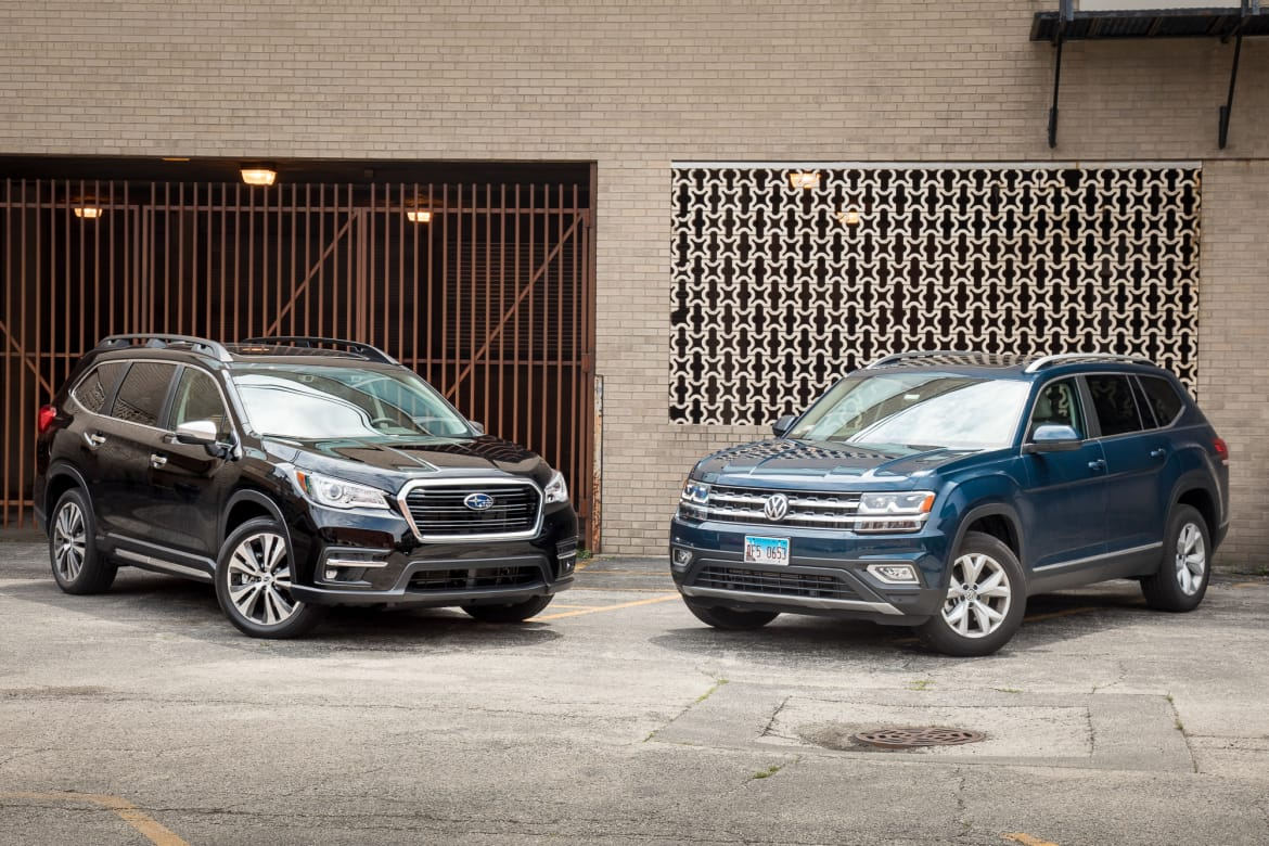 Suv With Captain Chairs Subaru Ascent Vs Volkswagen Atlas The Family Suv Feud Begins