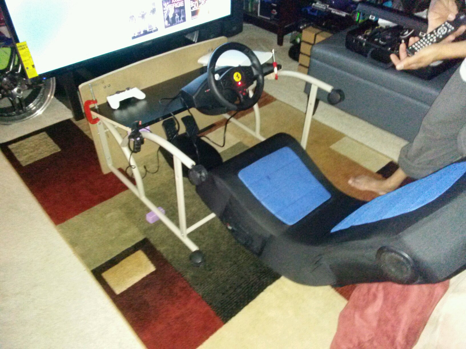 racing simulator chair plans costco dining covers how to build your very own kick ass this my setup for now until dad and i have time a better
