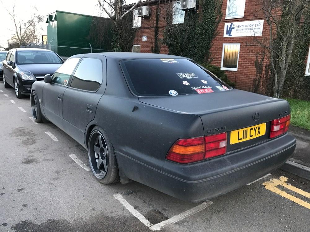 medium resolution of stickered up rear cool car