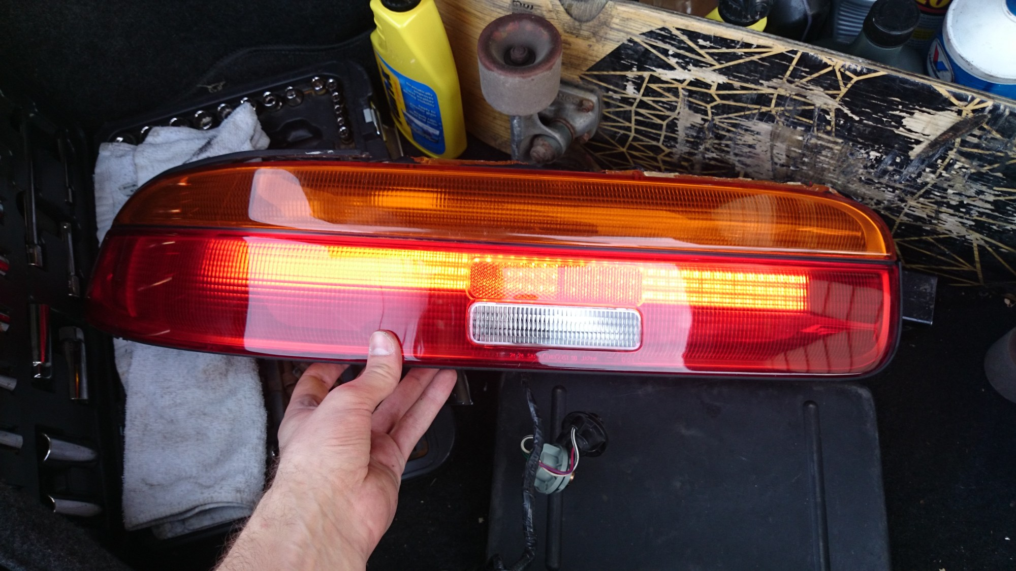 hight resolution of making custom tail lights for my 92 sc400 just the running lights left to set up and wire