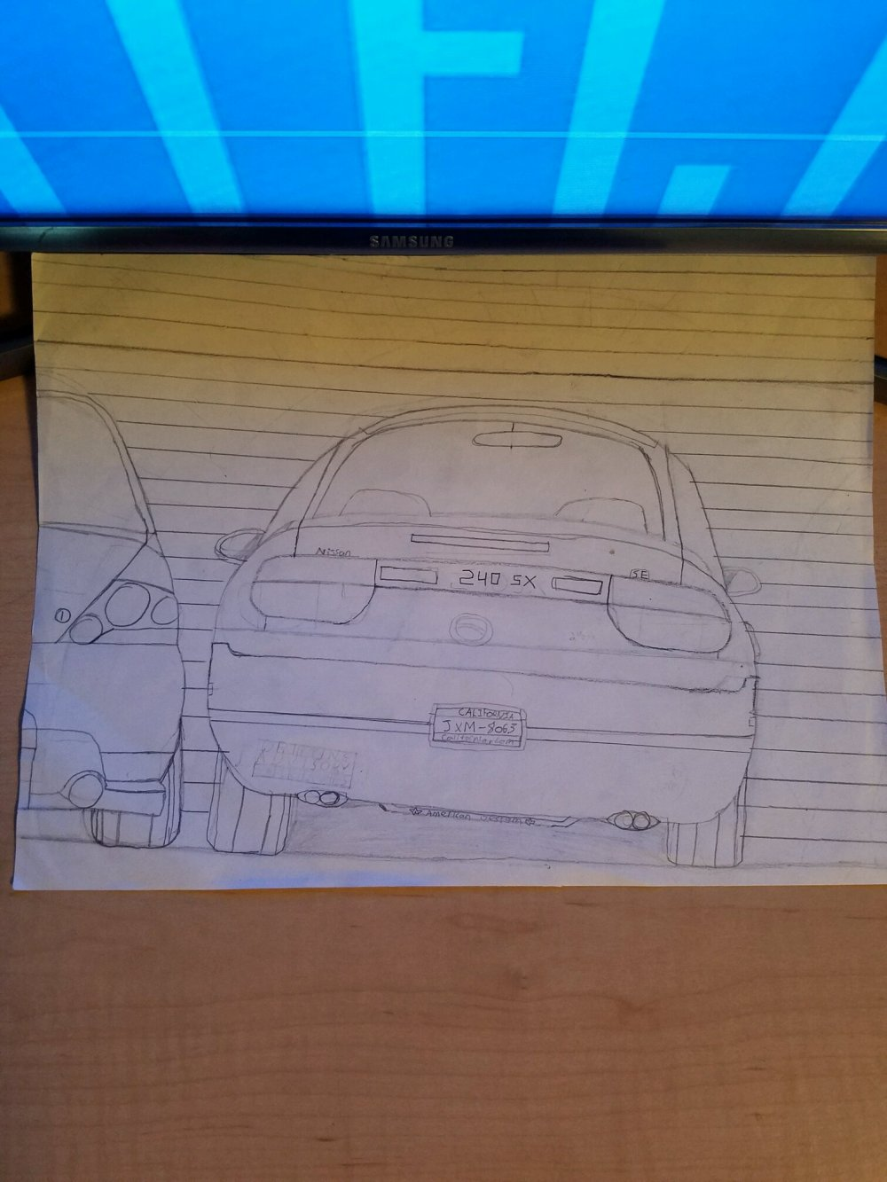 medium resolution of mitsubishi one of my older drawings of my dream car 1989 nissan 240sx