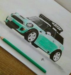 mini cooper  detailed drawing [ 972 x 972 Pixel ]