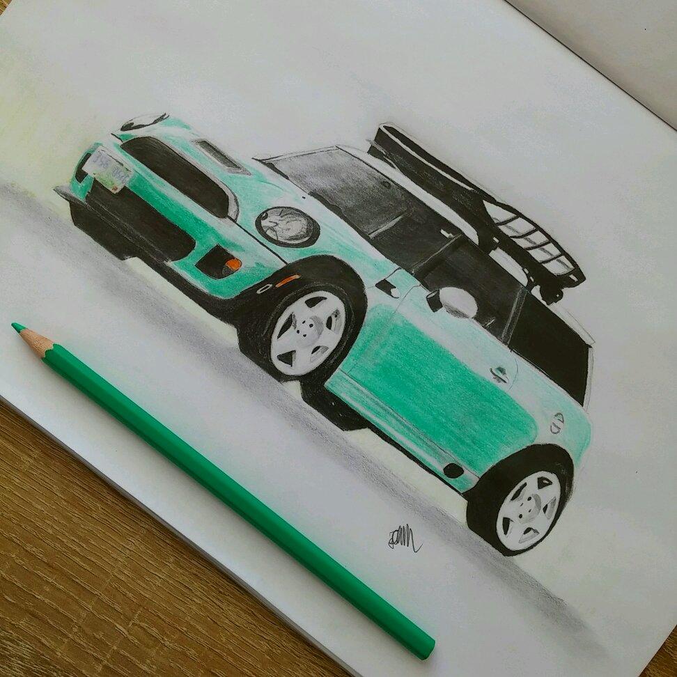medium resolution of mini cooper  detailed drawing