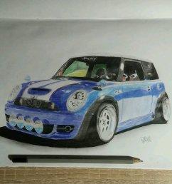 cooperking67 s mini cooper drawing [ 1080 x 1080 Pixel ]