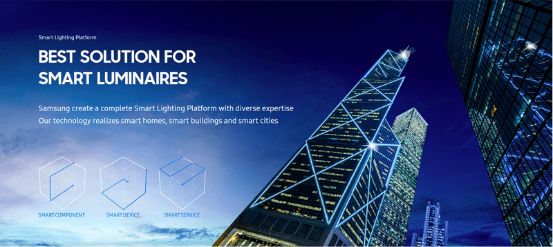 Samsung lanza Smart Lighting su plataforma de iluminacin para edificios inteligentes  CASADOMO